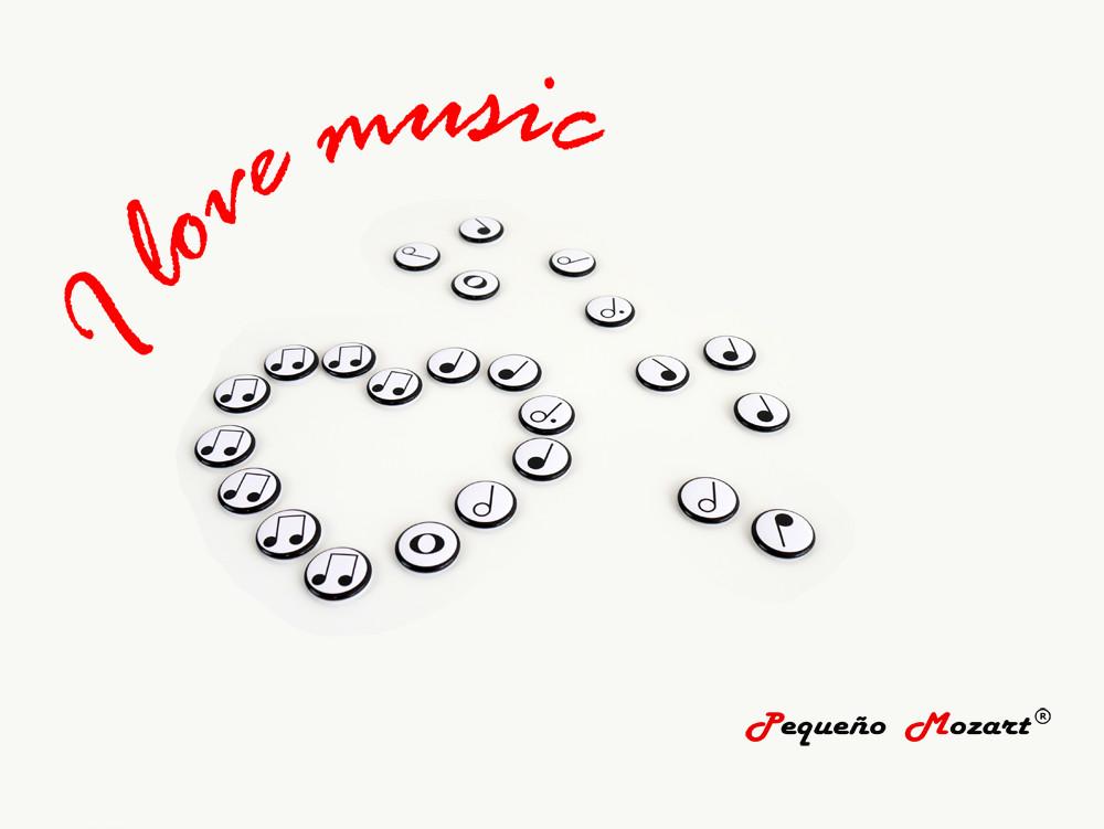 """Figuras musicales """"Pequeño Mozart"""" en imanes"""