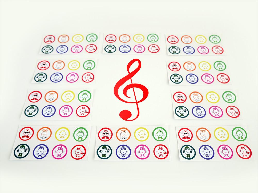 """Notas musicales """"Pequeño Mozart"""" en pegatinas de vinilo"""