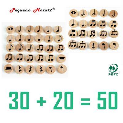 Figuras musicales madera pequeño mozart 50