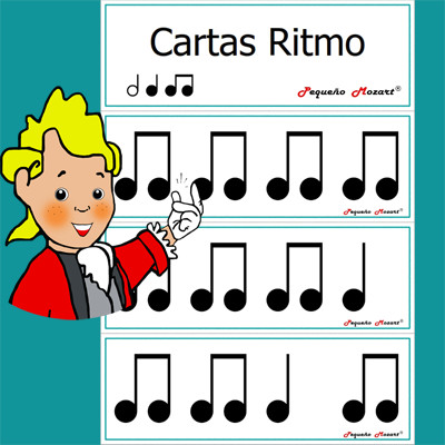 Cartas de ritmo para mesa de luz Pequeño Mozart