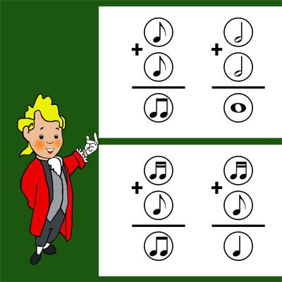 Solución a suma valor figuras musicales
