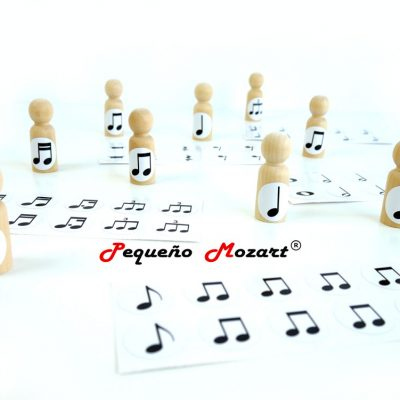 Pegatinas figuras musicales Pequeño Mozart 0