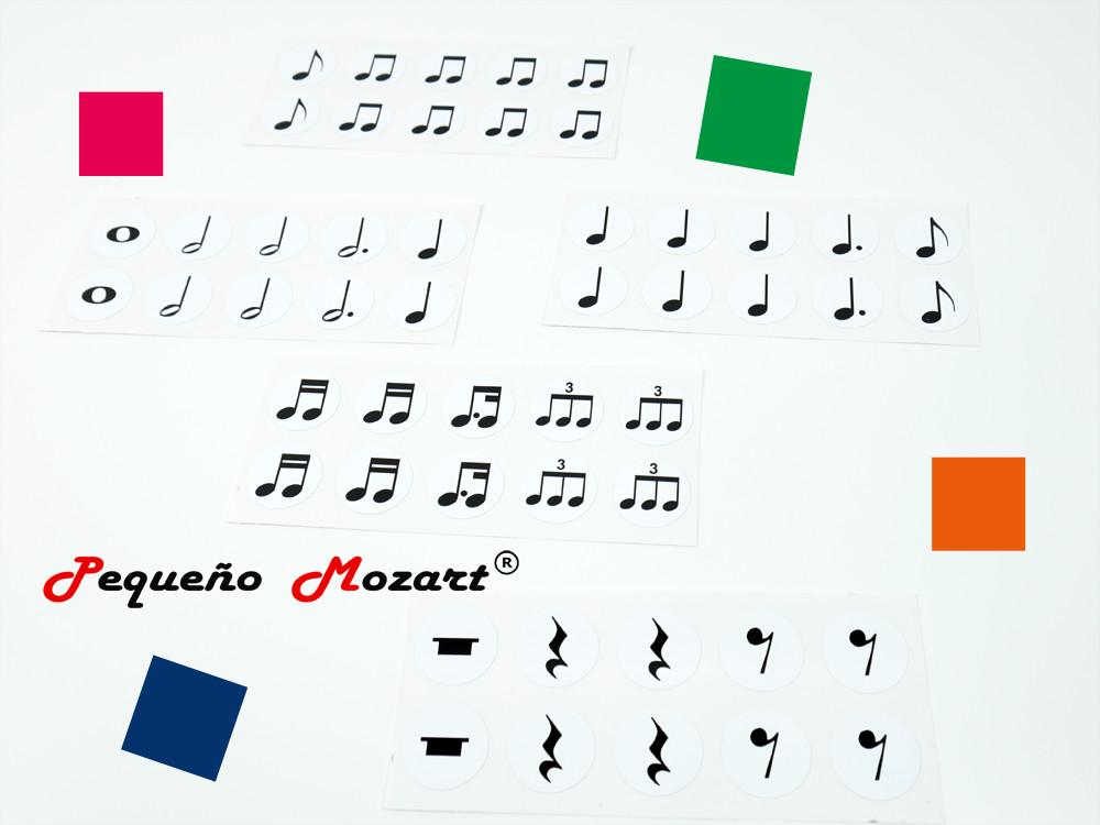 """Pegatinas en vinilo de las figuras musicales """"Pequeño Mozart"""""""