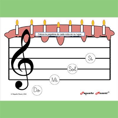 Tarta de notas musicales
