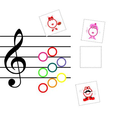 Pentagrama coloca las notas musicales