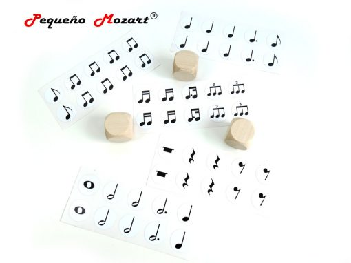 Dados figuras musicales Pequeño Mozart 2