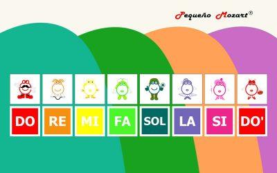 Las notas de colores, Pequeño Mozart y Google