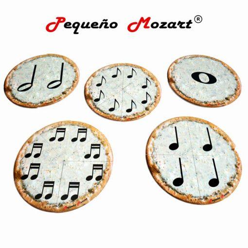 5 pizza puzzle figuras musicales Pequeño Mozart