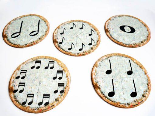 Set 5 puzzles pizzas de figuras musicales Pequeño Mozart