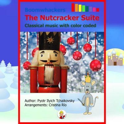 Portada libro partituras Boomwhackers Nutcracker Tchaikovsky Pequeño Mozart