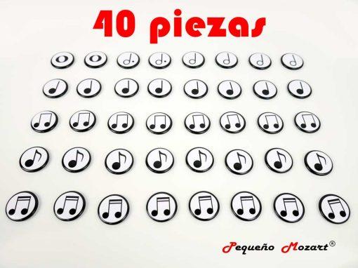 """Figuras musicales """"Pequeño Mozart"""" en imanes 40 uds"""