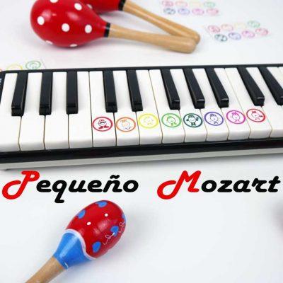 Pegatinas Piano Pequeno Mozart 1