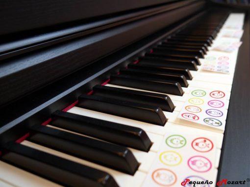 Pegatinas Piano Pequeno Mozart 2