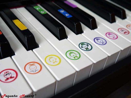 Pegatinas Piano y teclado Pequeno Mozart 1