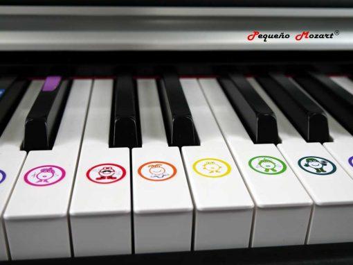 Pegatinas Piano e instrumentos musicales Pequeno Mozart