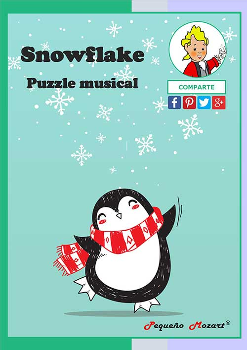 "Snowflake - Puzzle musical ""Pequeño Mozart"""