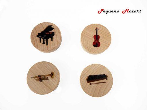 Familia de los instrumentos musicales Pequeño Mozart 1