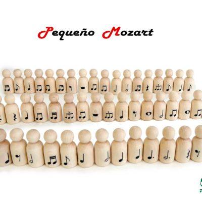 "Peg Dolls ""Pequeño Mozart"" con figuras musicales 1"