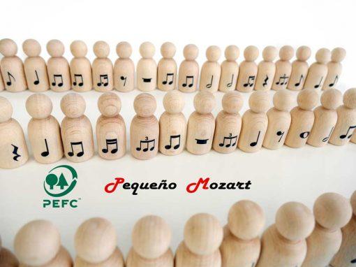 "Peg Dolls ""Pequeño Mozart"" con figuras musicales 2"