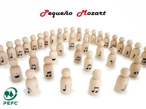 "Peg Dolls ""Pequeño Mozart"" con figuras musicales 3"
