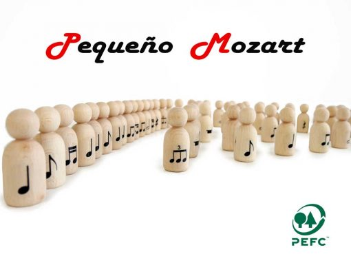 "Peg Dolls ""Pequeño Mozart"" con figuras musicales 4"