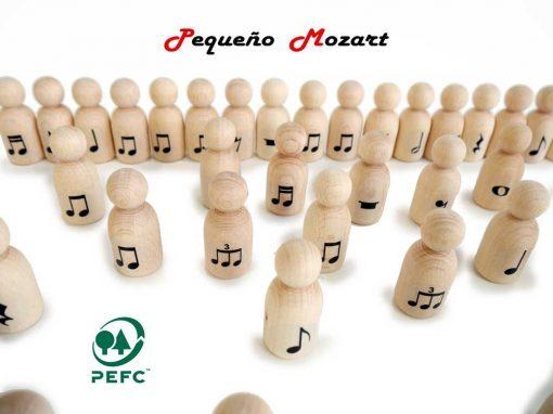 "Peg Dolls ""Pequeño Mozart"" con figuras musicales 6"
