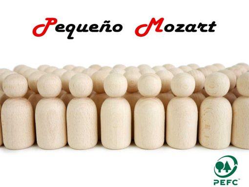 Peg Dolls Pequeño Mozart madera natural de haya 1