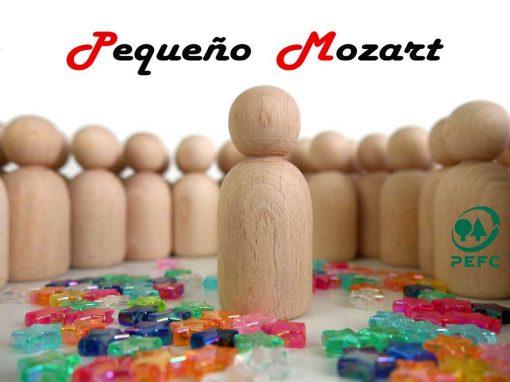 Peg Dolls Pequeño Mozart madera natural de haya 9