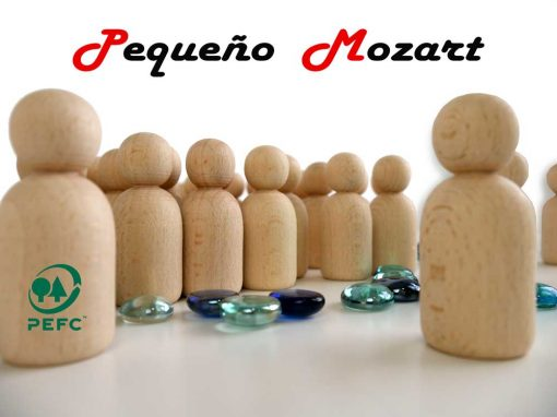Peg Dolls Pequeño Mozart madera natural de haya 10