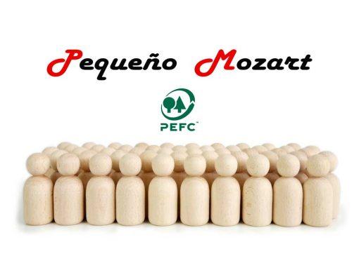 Peg Dolls Pequeño Mozart madera natural de haya 2
