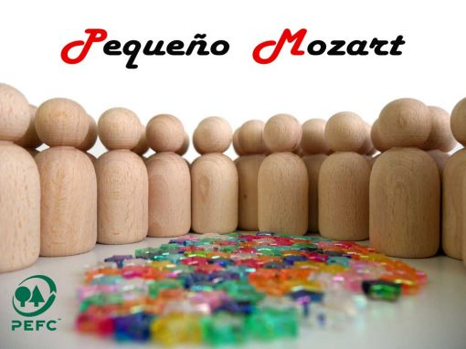 Peg Dolls Pequeño Mozart madera natural de haya 8