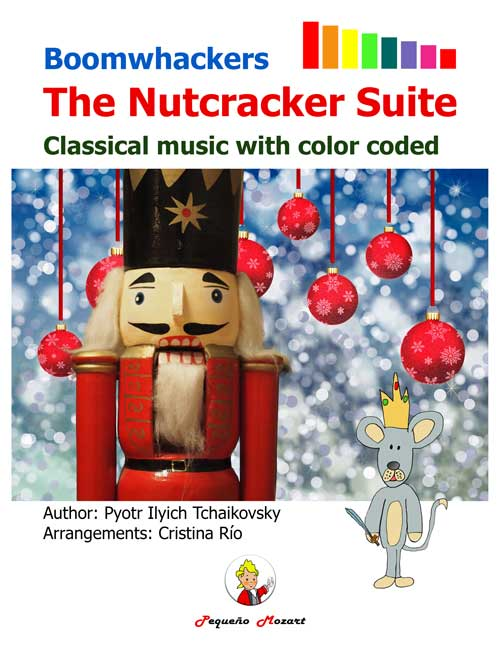 Nutcracker libro de partituras para Boomwhackers y Piano