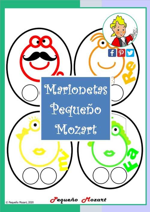 Marionetas de dedo de los ocho personajes Pequeño Mozart