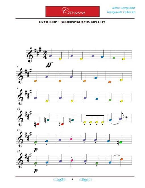 Carmen Boomwhackers - Libro de partituras - Piano