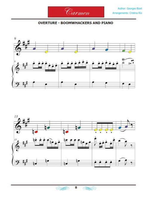 Carmen Boomwhackers - Libro de partituras - Ópera