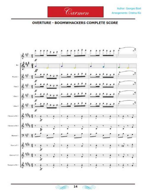 Carmen Boomwhackers - Libro de partituras - Orchestra