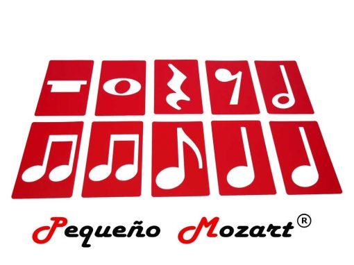 Plantillas musicales - figuras musicales - Pequeño Mozart 10
