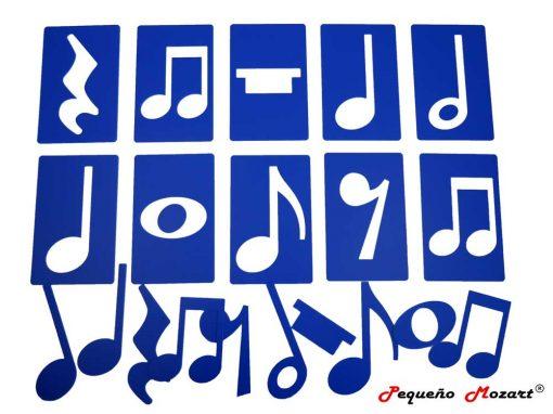 Plantillas musicales - figuras musicales - Pequeño Mozart 11
