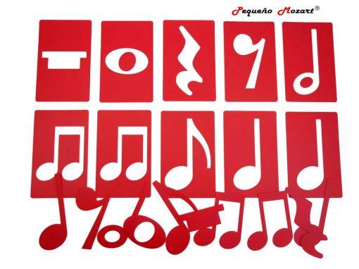 Plantillas musicales - figuras musicales - Pequeño Mozart 13