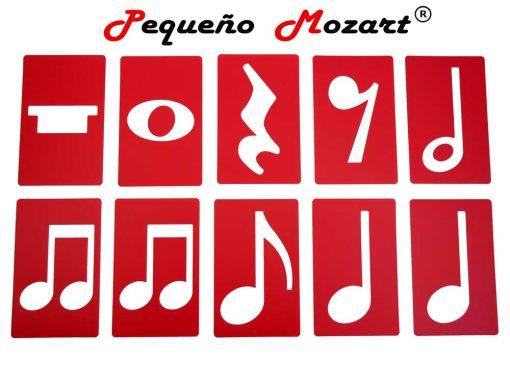 Plantillas musicales - figuras musicales - Pequeño Mozart 17