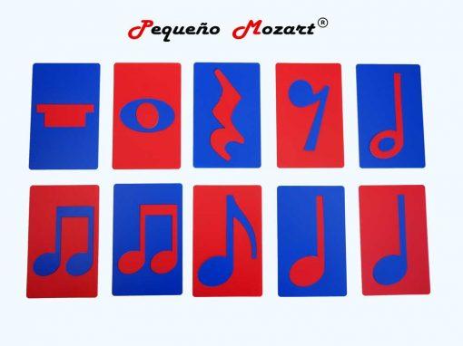 Plantillas musicales - figuras musicales - Pequeño Mozart 3