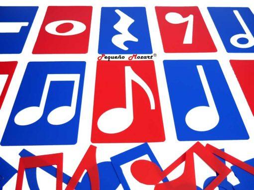 Plantillas musicales - figuras musicales - Pequeño Mozart 4