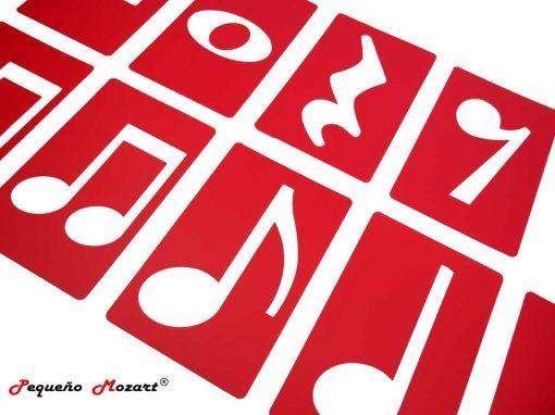 Plantillas musicales - figuras musicales - Pequeño Mozart 6