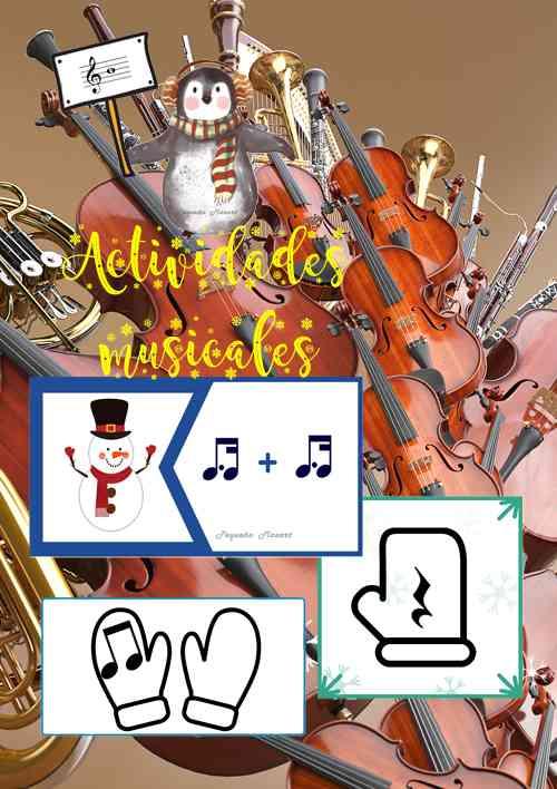 Actividades de invierno - fichas musicales - Pequeño Mozart
