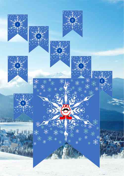 Banderines de Invierno personajes de la Escala Musical Pequeño Mozart