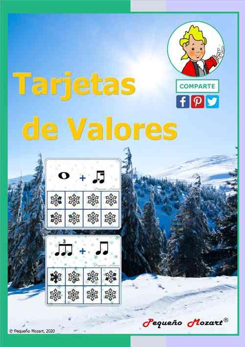 Tarjetas de valores musicales - invierno